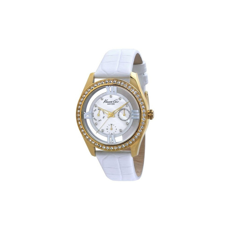 Montre Femme Kenneth Cole Cuir Blanc