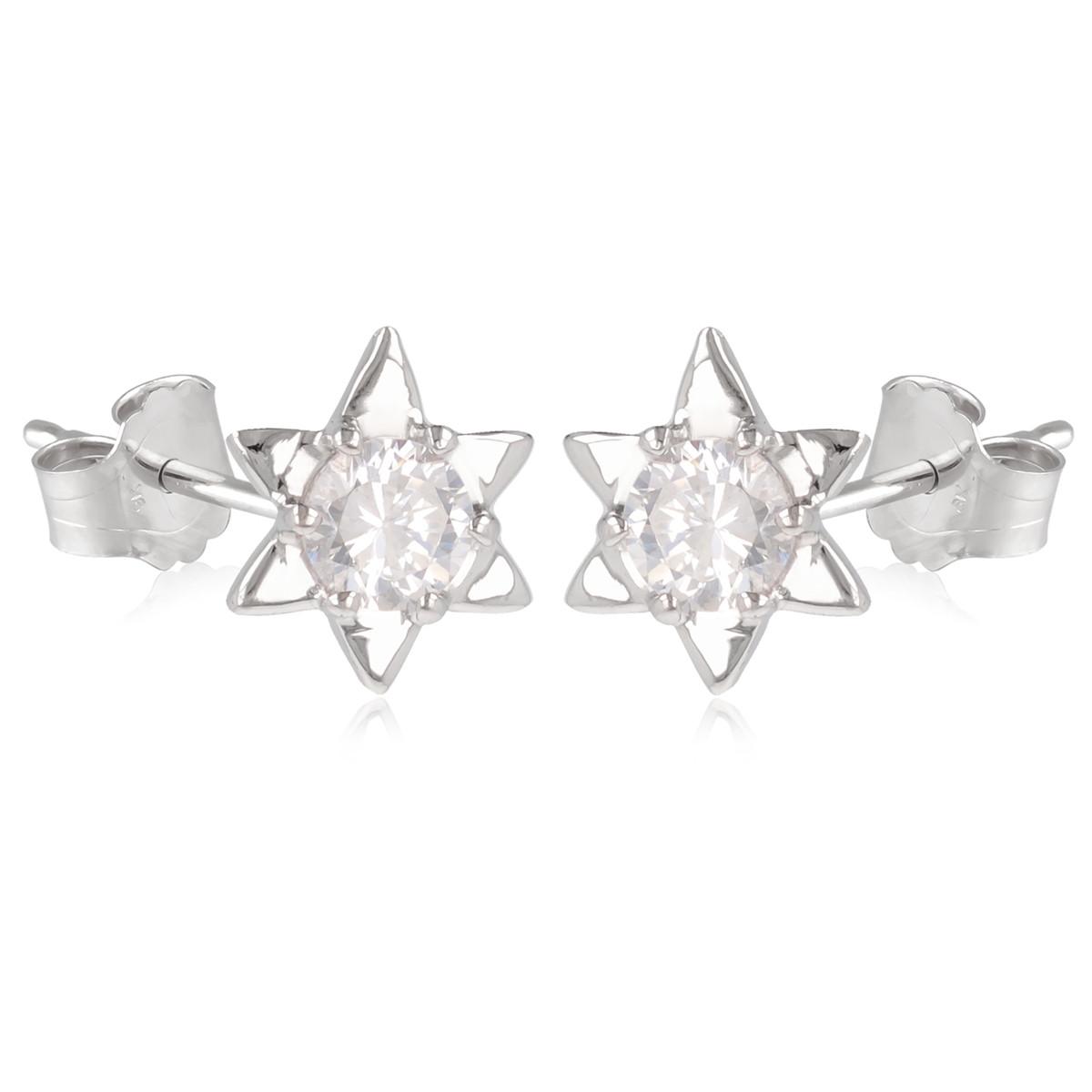Jolies Boucles d/'Oreilles pour trous,Triangles métal coul argent,sans nickel