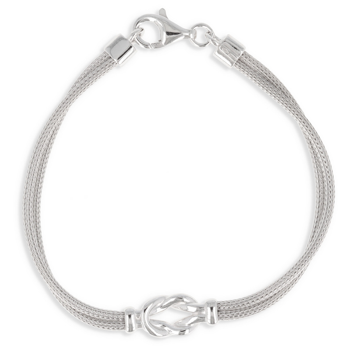 bracelet argent noeud