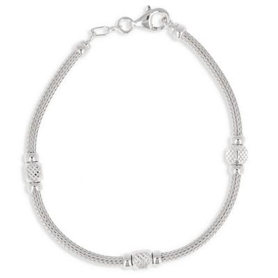 bracelet argent femme 19 cm