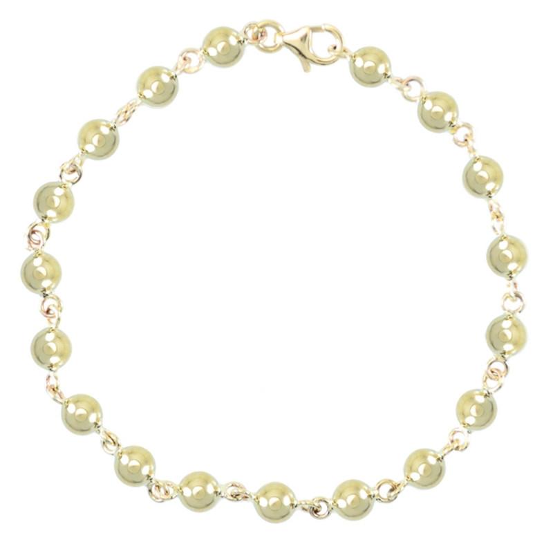 Or Marseillaises Bracelet Jaune Femme Boules DWH92IE