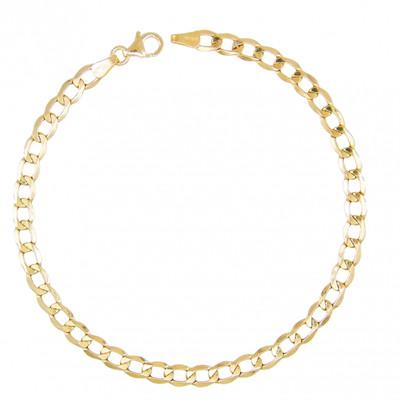 acheter en ligne Découvrez le moins cher Bracelet Homme Maille Gourmette - Or Jaune