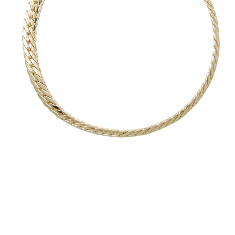 collier femme maille