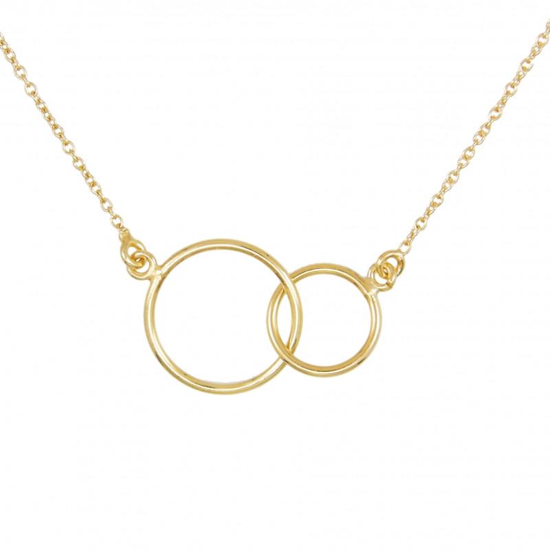 collier femme deux anneaux