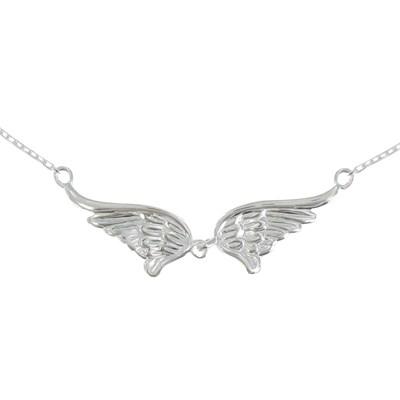 collier argent ailes