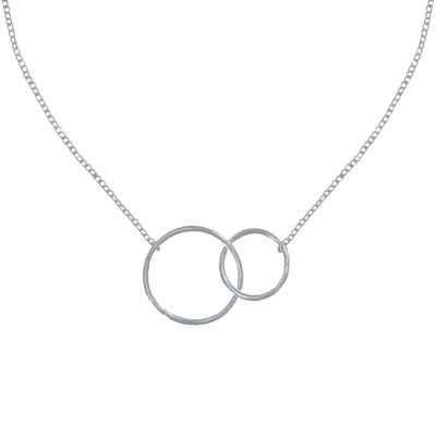 collier argent pendentif cercle