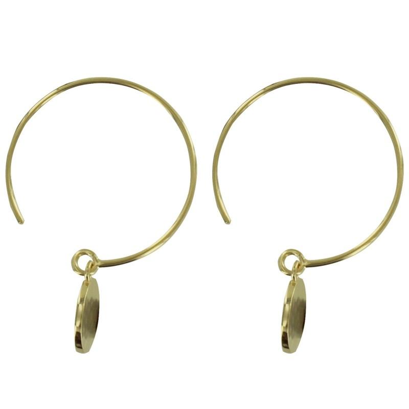 Boucles d/'oreilles percées plaqué Or les Rubis et Zirconiums très élégantes.