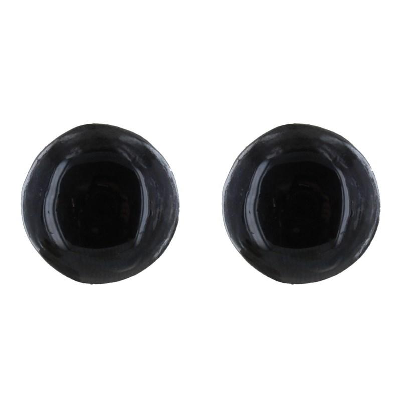 Métal Champignon D'oreilles Céramique Noir Clip Boucles Doré DYe29IWbEH