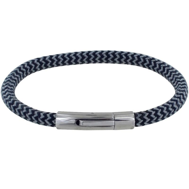 Homme Rond Polyamide Bracelet Navy Chevrons Bleu FTJlKcu13