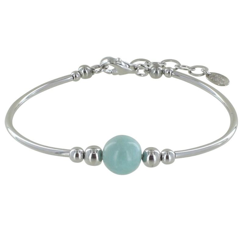 bracelet argent larimar