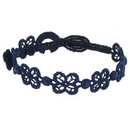Cruciani Bracelet Dentelle Happy Bleu Navy