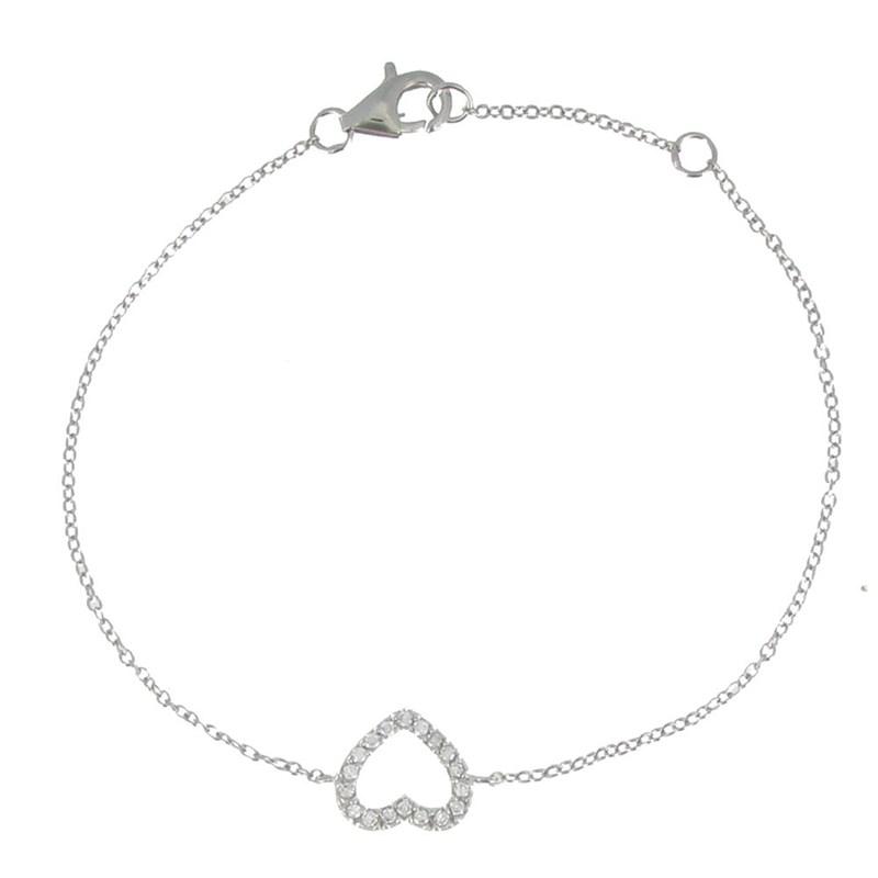 bracelet argent femme coeur