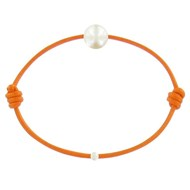 Bracelet La Perle de Culture Blanche des Poulettes - Colors - Orange