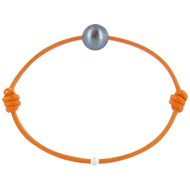 Bracelet La Perle de Culture Noire des Poulettes - Colors - Orange