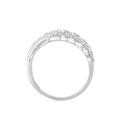 Bague Or Blanc et Diamants 0 -25 carats Babylone - vue V2