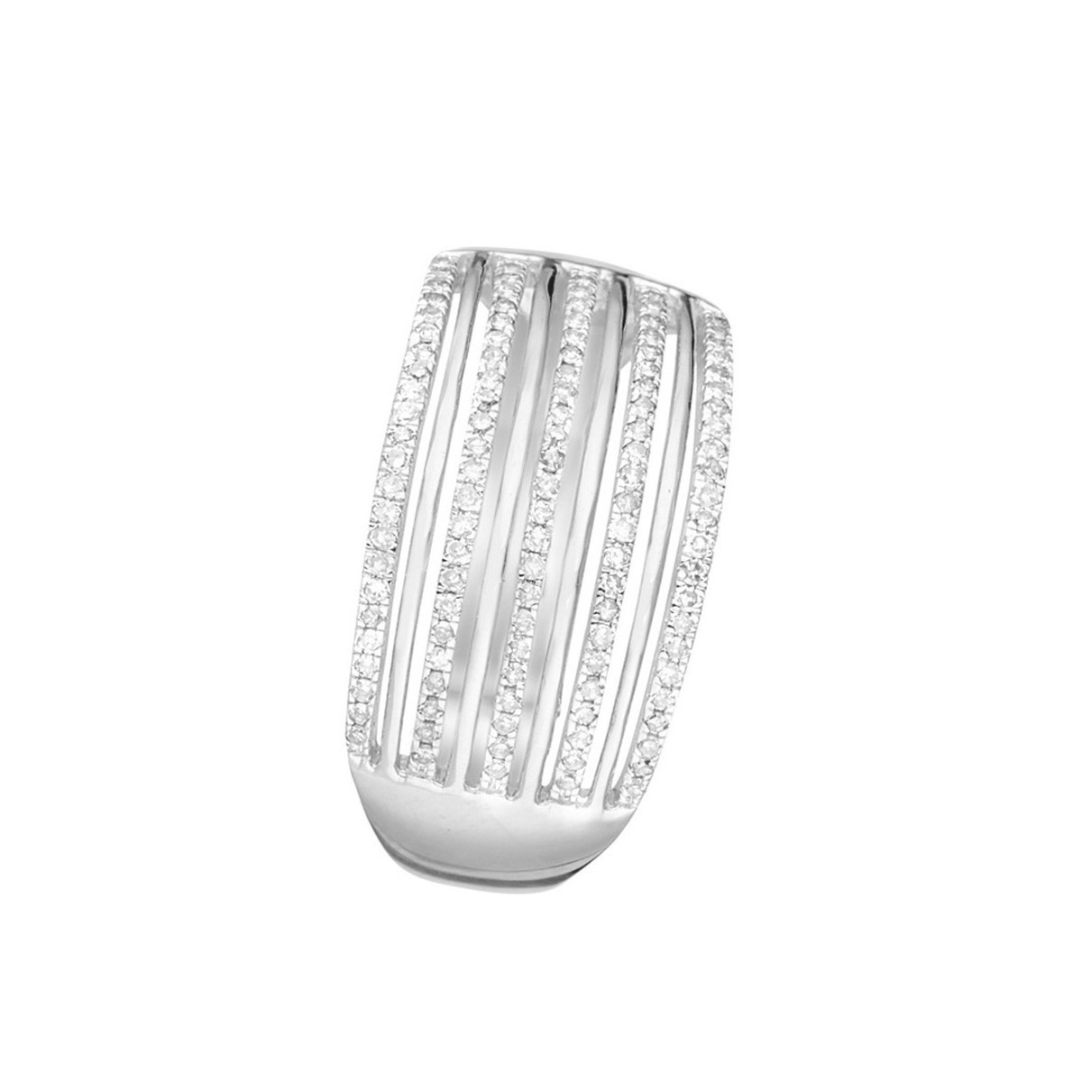 Bague Or Blanc et Diamants 0 -25 carats Kendall