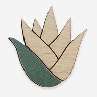 Broche en cuir et bois made in France BROCHE MARINIERE