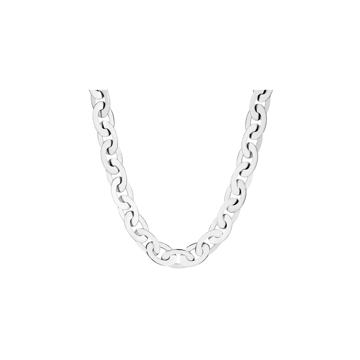 collier chaine plate femme