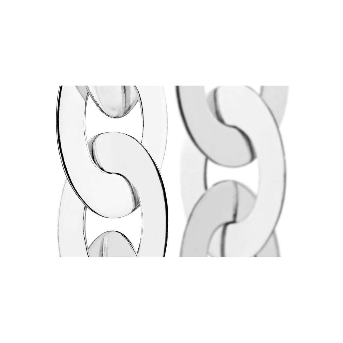 collier ras de cou maille plate