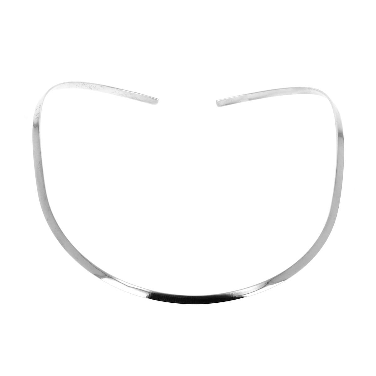 acheter pas cher 100% authentique Nouveaux produits Collier argent Tour de cou fin et ovale