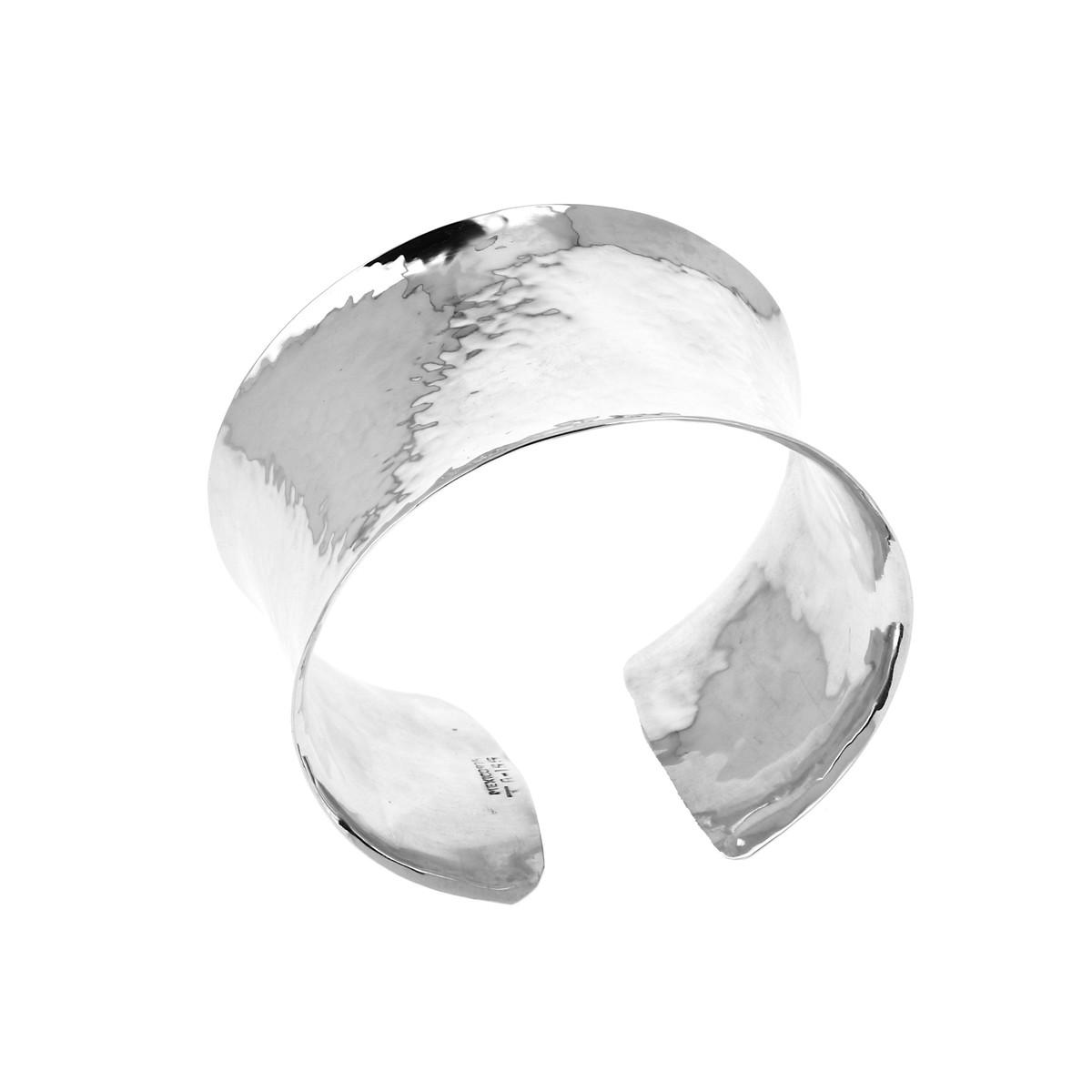 bracelet femme argent large