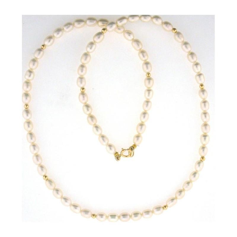 collier perle or jaune