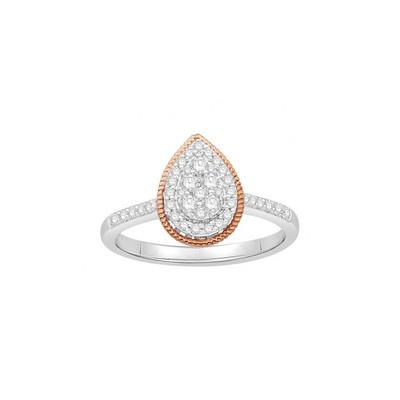 bague diamant forme poire