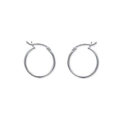 20 mm Rond Blanc coquillage perle argent Boucles d/'oreilles Créoles livraison gratuite
