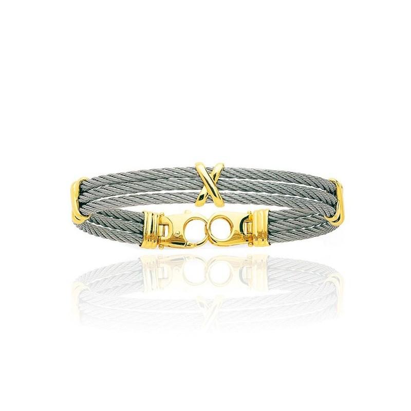 bracelet femme cable acier