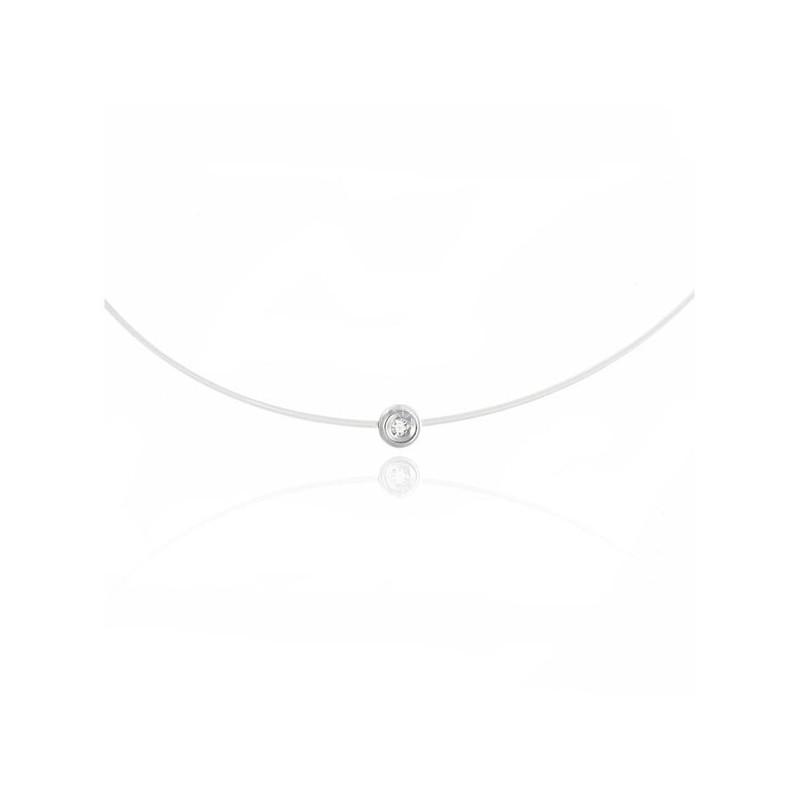collier diamant transparent