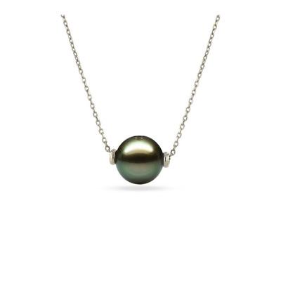 collier or blanc et perle de tahiti