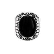 Bague onyx indiana argent.