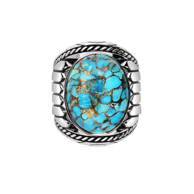 regarder 543f8 49708 Bague turquoise indiana argent.