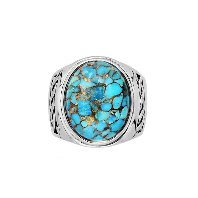 bague en argent turquoise