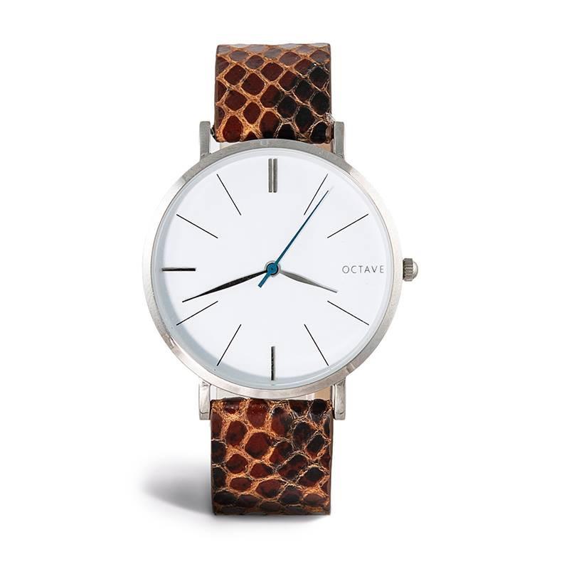 meilleur choix nouveau style nouveau authentique Montre homme argent bracelet cuir cobra