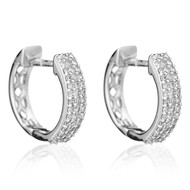 Boucles d'oreilles or blanc et diamants RANGS SCINTILLANTS