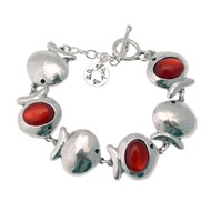 Bracelet multi poissons grand métal argenté collection PESCADO