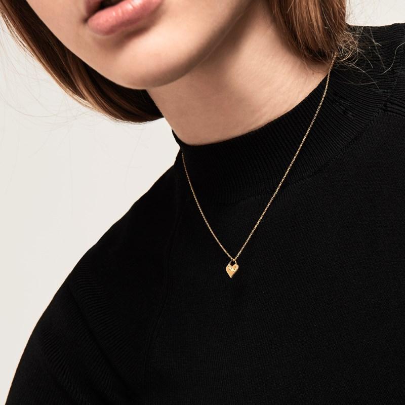 collier argent femme pendentif coeur