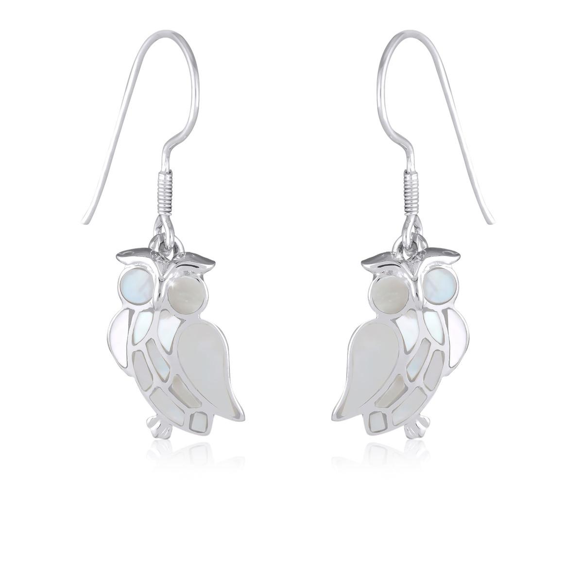 boucles d'oreilles pendantes hibou