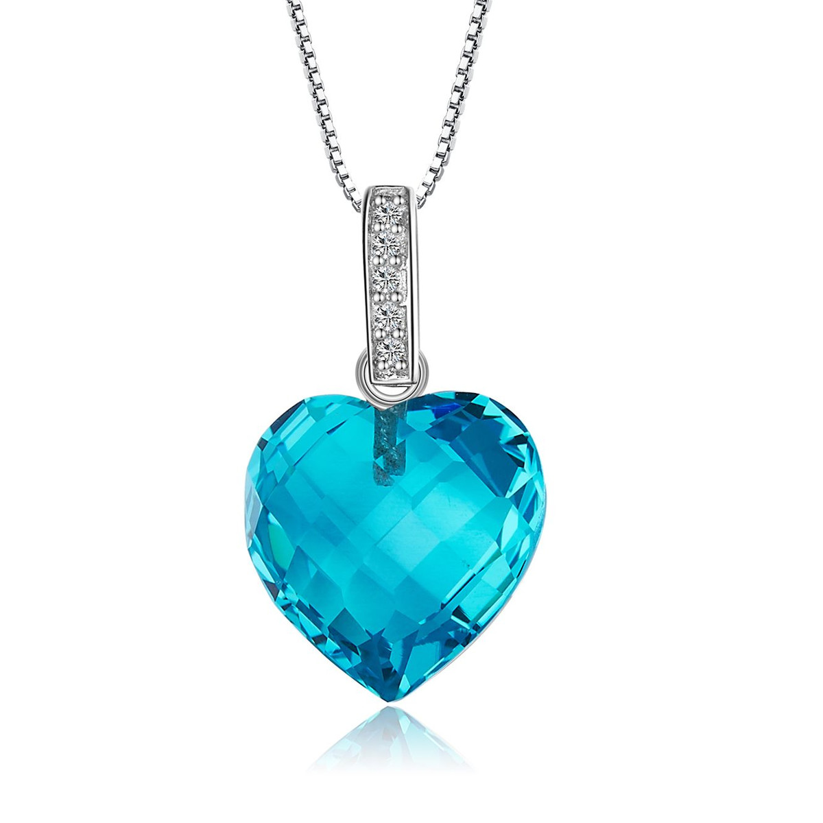 collier femme bleu turquoise