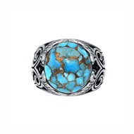 Bague turquoise jungle