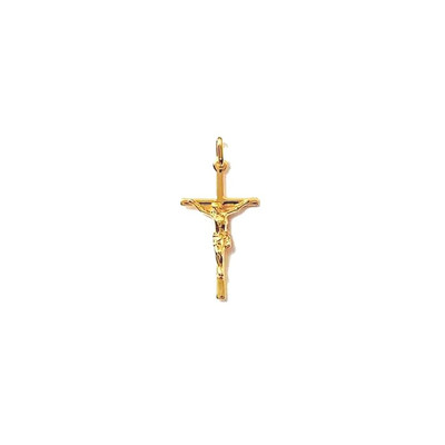 CHRIST ARGENT+CHAINE G 45cm PENDENTIF CROIX catholique