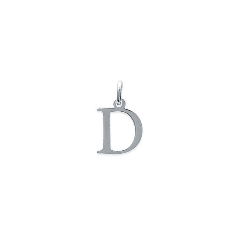 Pendentif Initiale Simple Lettre D En Argent 92500 Chaine
