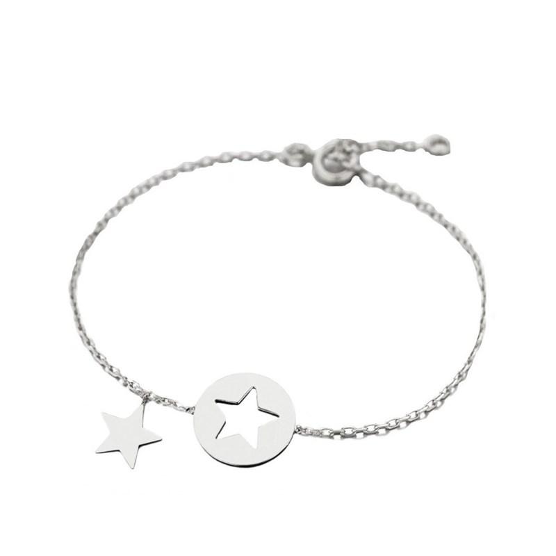 Argent Bracelet Dauphin En Breloque 16cm 925°00 bgY6v7Ify