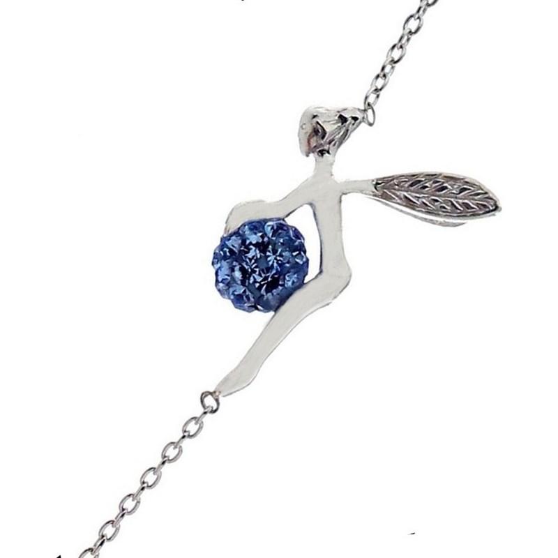 Bleu Clochette 925°00 En Bracelet Disco Et Boule Fée Sa Argent OTPkZuwXil