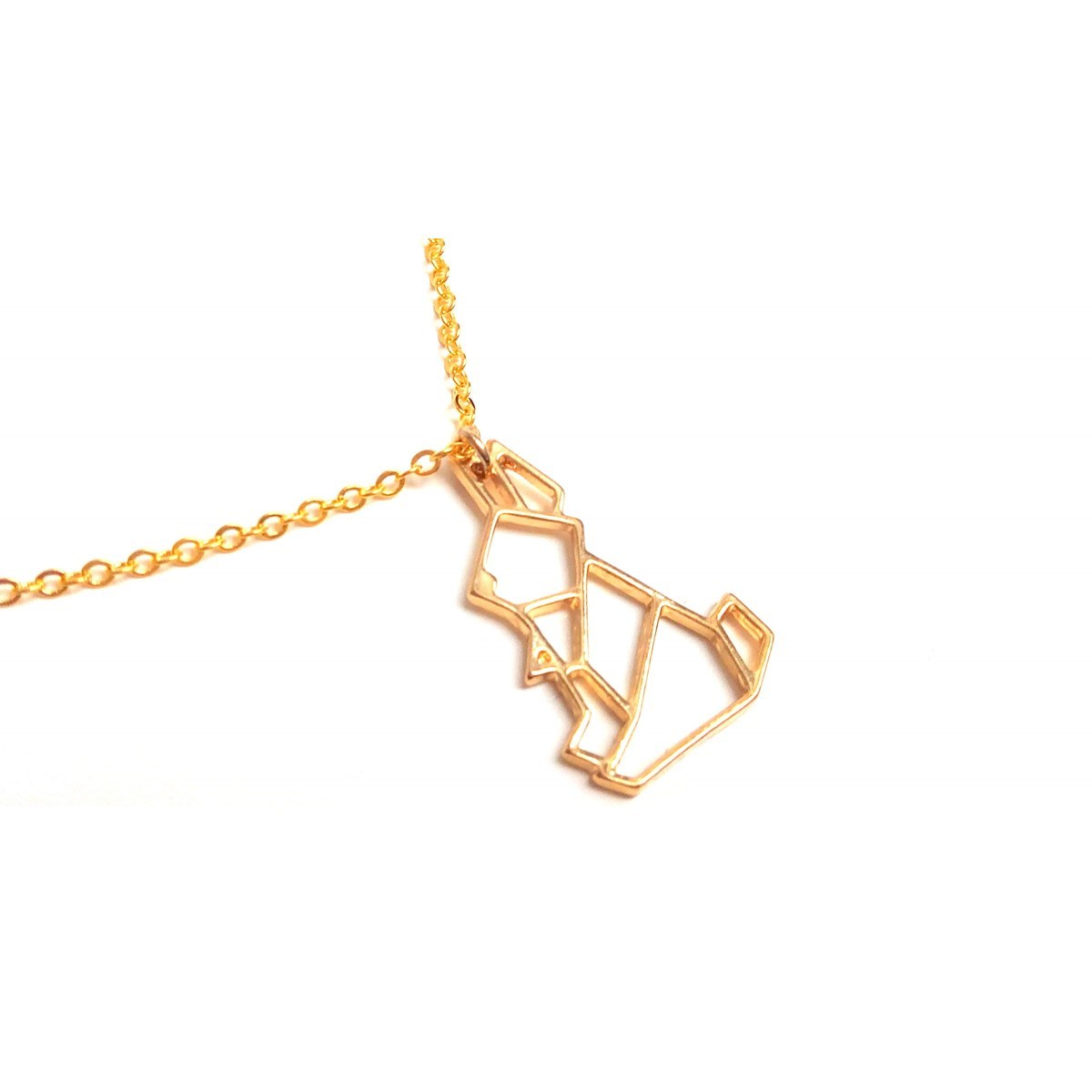 collier homme origami