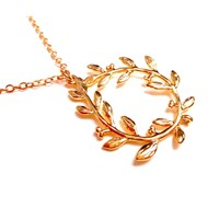 Collier gold filled 14K couronne feuilles d'olivier