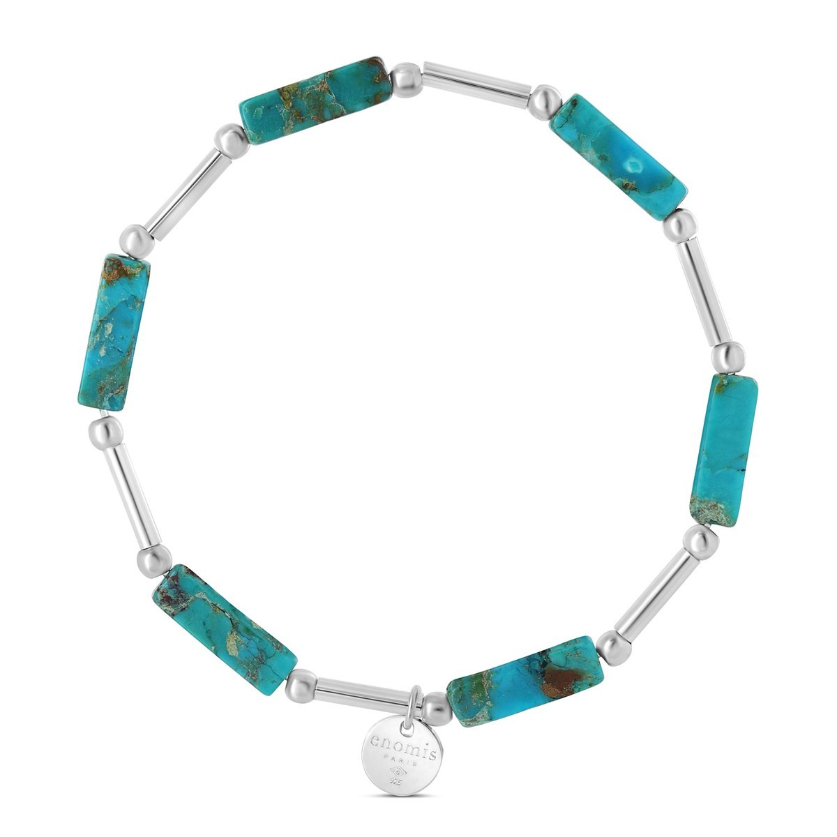 bracelet femme argent et turquoise
