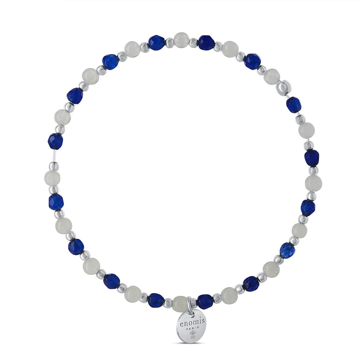 bracelet argent pierre bleu