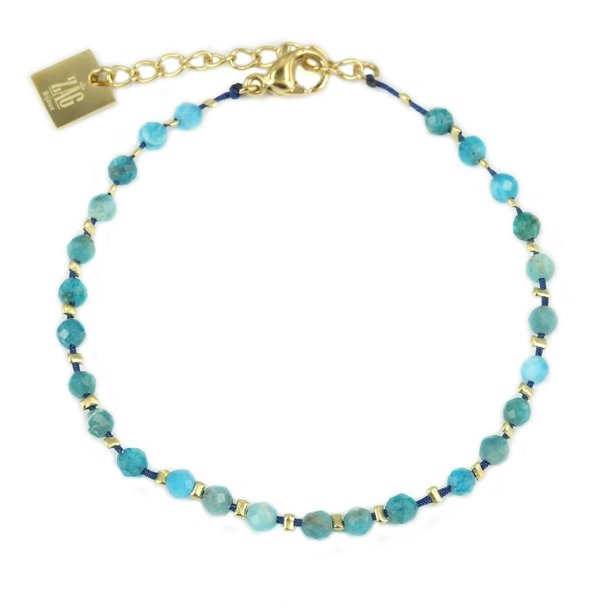 Bracelet femme Zag perles bleues